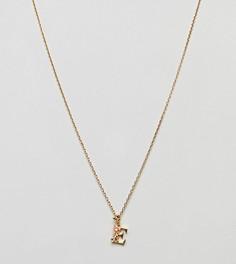 Ожерелье с подвеской Е Bill Skinner - Золотой