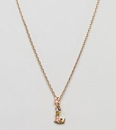 Ожерелье с подвеской L Bill Skinner - Золотой