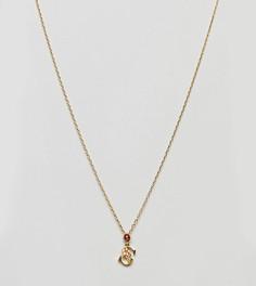Ожерелье с подвеской в виде буквы S Bill Skinner - Золотой
