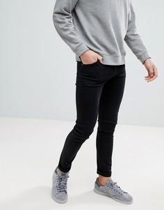 Черные супероблегающие джинсы Weekday - Черный