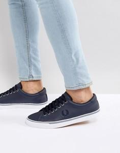 Темно-синие кожаные кроссовки Fred Perry - Темно-синий