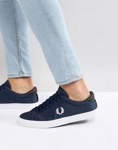 Темно-синие нейлоновые кроссовки Fred Perry Underspin - Темно-синий