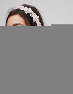 Кружевная повязка на голову с вышивкой ASOS - Мульти