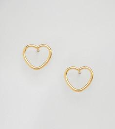 Серьги-гвоздики из позолоченного серебра ASOS - Серебряный