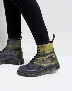 Ботинки с 8 парами люверсов Dr Martens William Turner - Черный