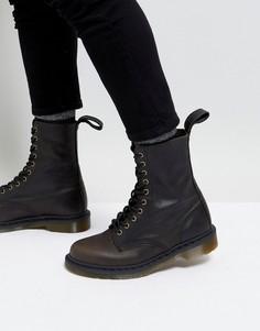 Черные высокие ботинки с 10 парами люверсов Dr Martens - Черный