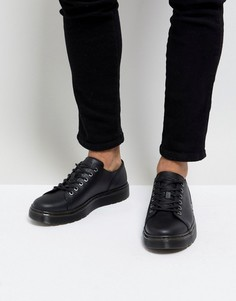 Кожаные ботинки с 6 парами люверсов Dr Martens Dante - Черный