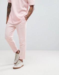 Трикотажные джоггеры с вафельной текстурой Puma - Розовый