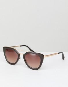 Коричневые солнцезащитные очки кошачий глаз AJ Morgan - Коричневый