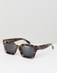 Квадратные солнцезащитные очки в черепаховой оправе AJ Morgan - Коричневый