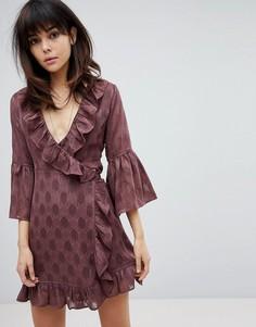 Платье с запахом Religion - Красный