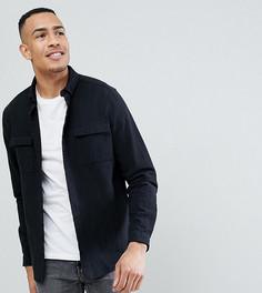 Рубашка навыпуск с двумя карманами ASOS TALL - Черный
