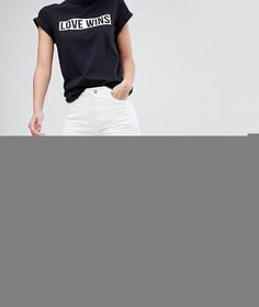 Джинсы в винтажном стиле с рваной отделкой Noisy May Tall - Белый