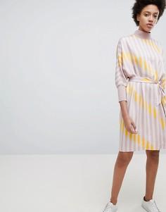 Платье А-силуэта с полосками Selected - Мульти