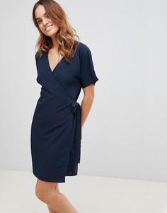 Платье с запахом Vila - Темно-синий
