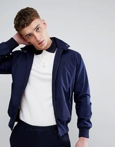 Изготовленная в Англии темно-синяя куртка Харрингтон Fred Perry REISSUES - Темно-синий