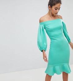 Облегающее платье с рукавами-баллон True Violet - Зеленый