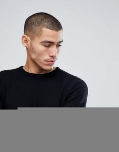 Вязаный джемпер с асимметричным подолом Only & Sons - Черный