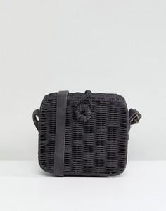 Структурированная соломенная сумка ASOS - Черный