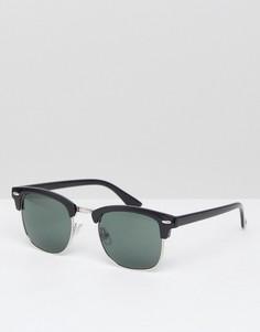 Черные солнцезащитные очки River Island - Черный