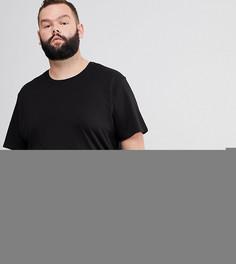 Удлиненная футболка с асимметричным подолом Only & Sons PLUS - Черный