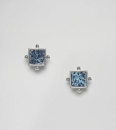 Серьги-гвоздики с камнями ASOS - Серебряный
