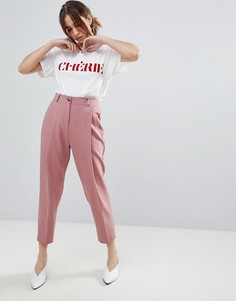 Брюки в стиле 80-х со складками ASOS - Розовый