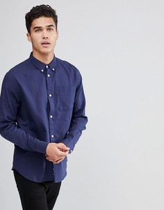 Рубашка с длинными рукавами Bellfield - Темно-синий