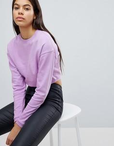 Укороченный свитшот ASOS - Фиолетовый