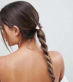 Заколка для волос с цветочной отделкой из резины и металла ASOS - Золотой