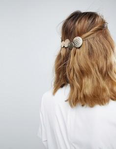 Заколка для волос с кованным эффектом ASOS - Золотой