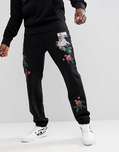 Черные джоггеры с цветочной вышивкой Billionaire Boys Club - Черный
