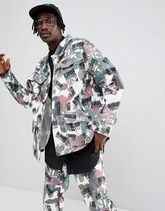 Куртка с цветочным принтом Billionaire Boys Club - Бежевый