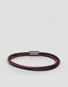 Красный браслет с логотипом на завязке HUGO - Красный