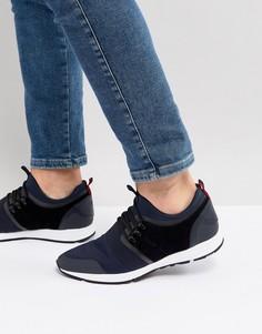 Темно-синие беговые кроссовки из неопрена HUGO - Темно-синий