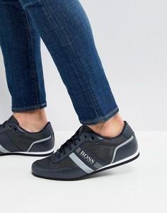 Темно-синие нейлоновые кроссовки со светоотражающей отделкой BOSS - Темно-синий