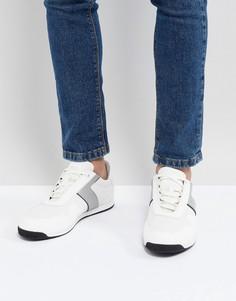 Белые беговые кроссовки с полосками BOSS - Белый