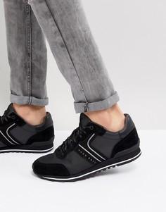 Черные кроссовки BOSS Mix Media - Черный