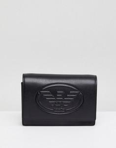 Сумка из искусственной кожи с тисненым логотипом Emporio Armani - Черный