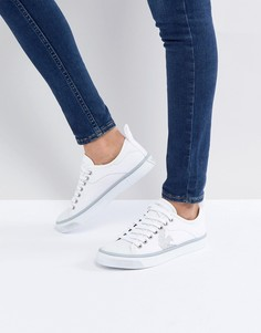 Кеды на шнуровке с логотипом Emporio Armani - Белый