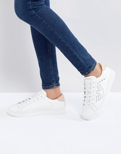 Кроссовки на шнуровке с логотипом Emporio Armani - Белый
