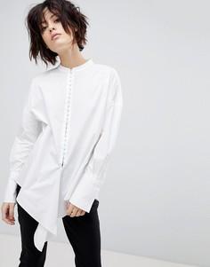 Свободная рубашка с застежкой на крючки HUGO - Белый