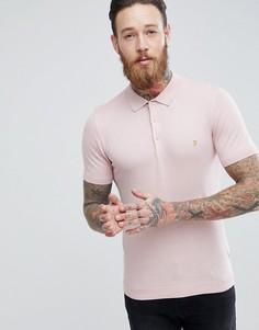 Розовая облегающая футболка-поло Farah Ben - Розовый