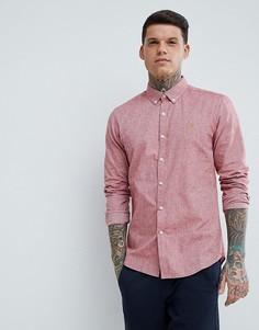 Красная фактурная оксфордская рубашка узкого кроя Farah - Красный