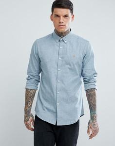 Серая фактурная оксфордская рубашка узкого кроя Farah Steen - Серый