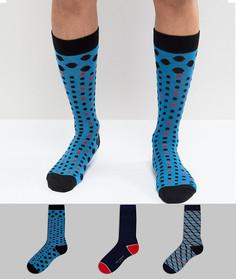 3 пары носков в подарочной упаковке Ted Baker - Мульти