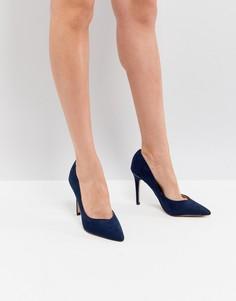 Туфли-лодочки с острым носком и золотистой отделкой Lipsy - Темно-синий
