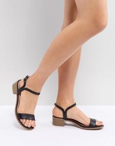 Босоножки на низком блочном каблуке New Look - Черный