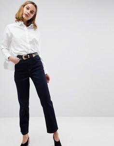 Синие прямые джинсы с ремнем в стиле вестерн ASOS FARLEIGH - Синий