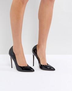 Черные лакированные туфли-лодочки Public Desire Sachi - Черный
